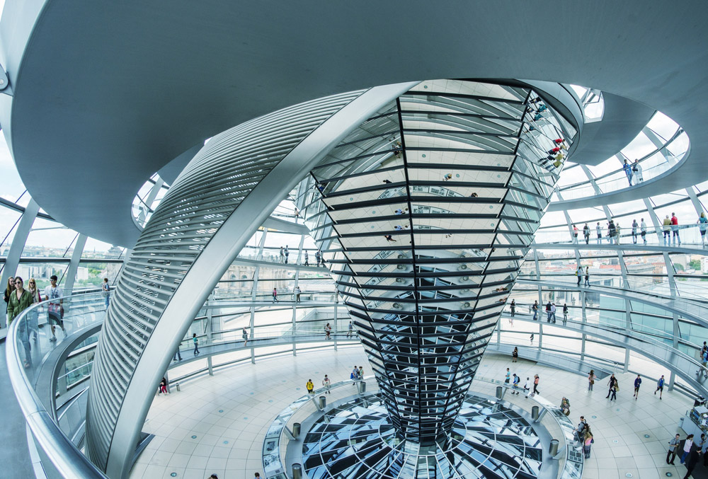 The Reichstag's incredible glass dome, designed by Sir Norman Foster. Photo: Shutterstock