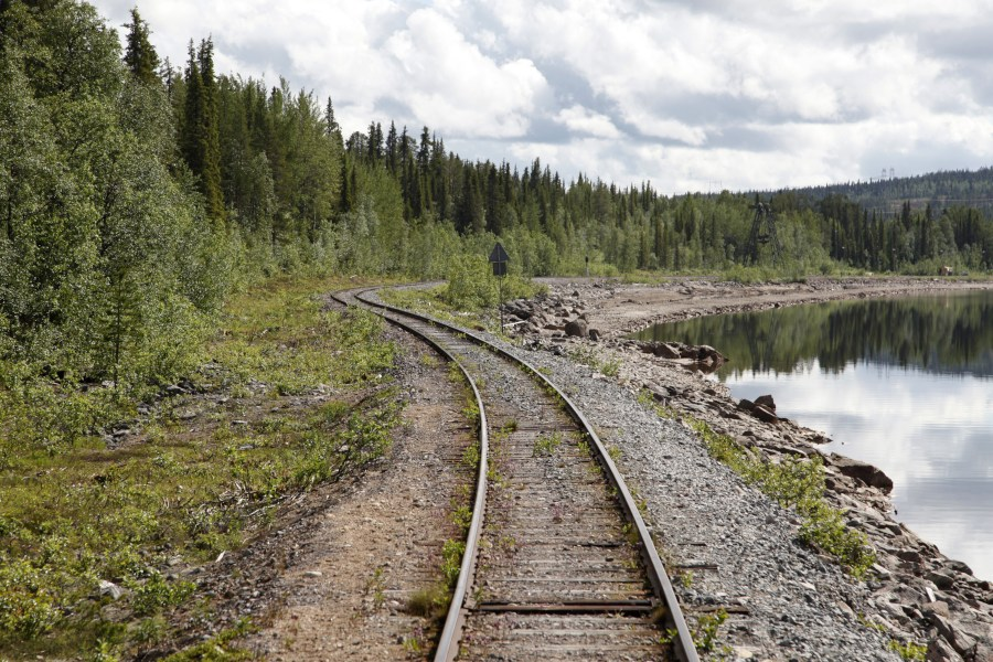 Northern Swedish railway line.