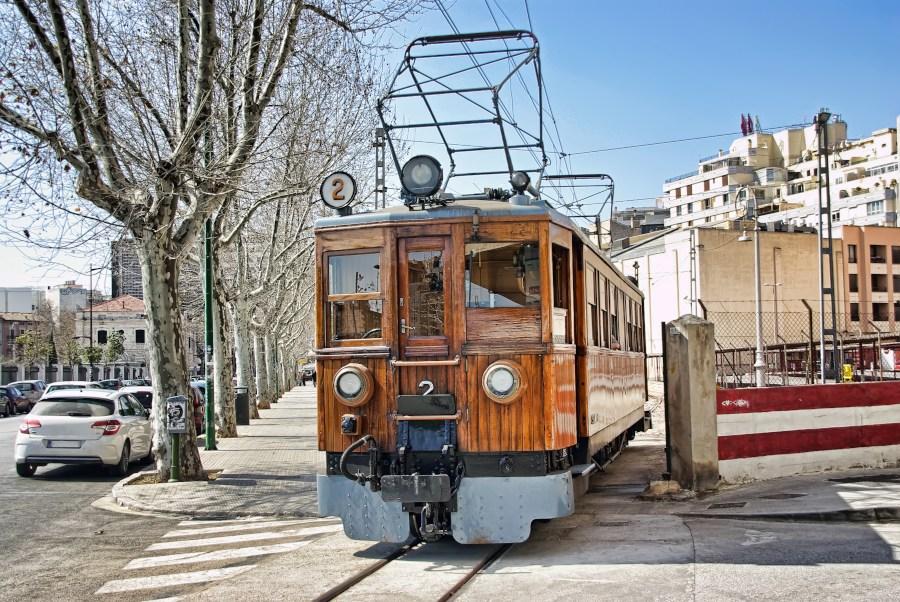 Vintage Sóller electric train, Mallorca.
