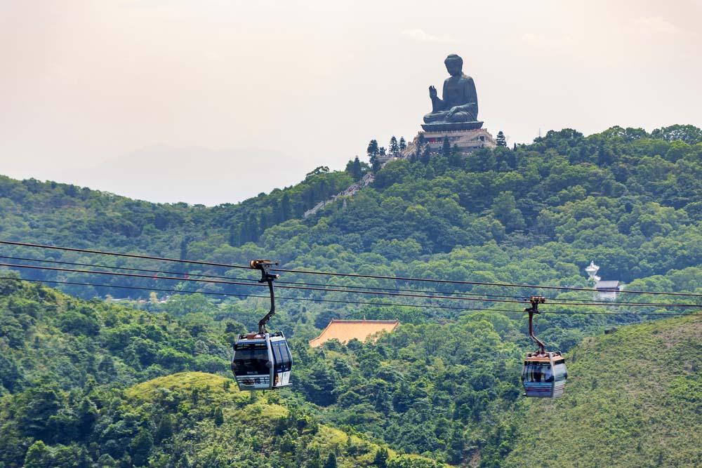 Giant Buddha at Po Lin Monastery on Lantau Island
