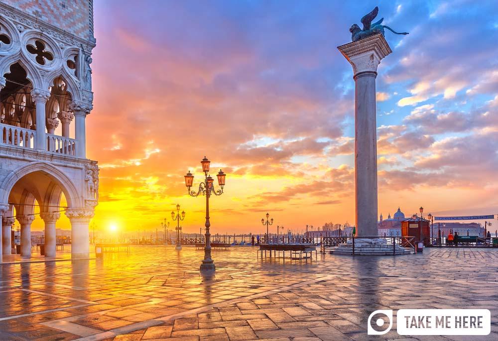 Venice's Piazza San Marco at sunrise.