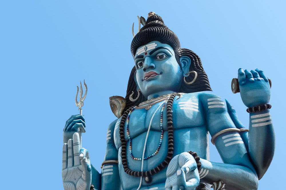 Close up of God Shiva statue at Hindu temple in Trincomalee. Photo: Shutterstock
