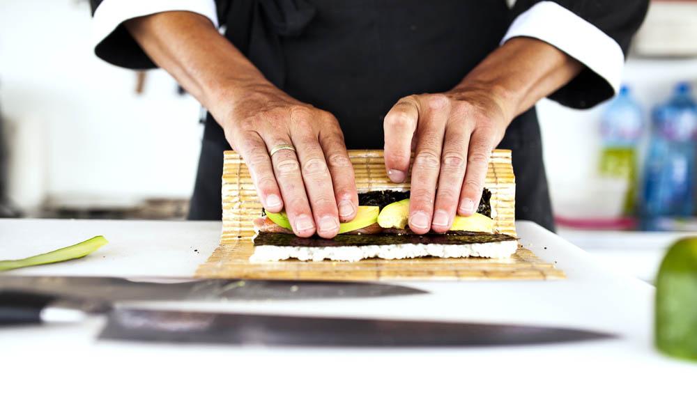 Rolling sushi class. Photo: Shutterstock