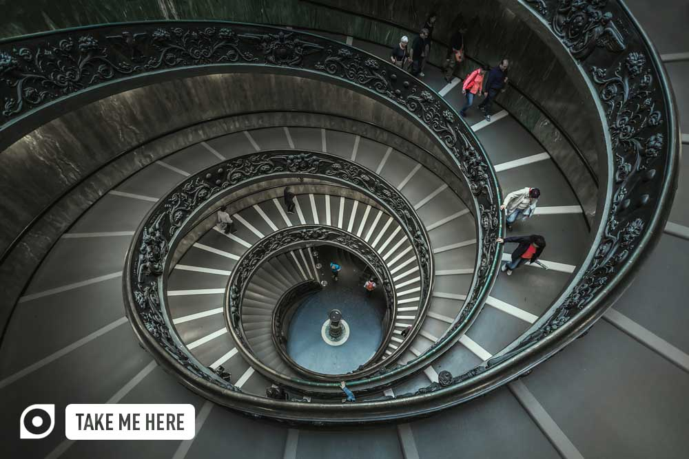 Spiral Staircase at Vatican Museum.
