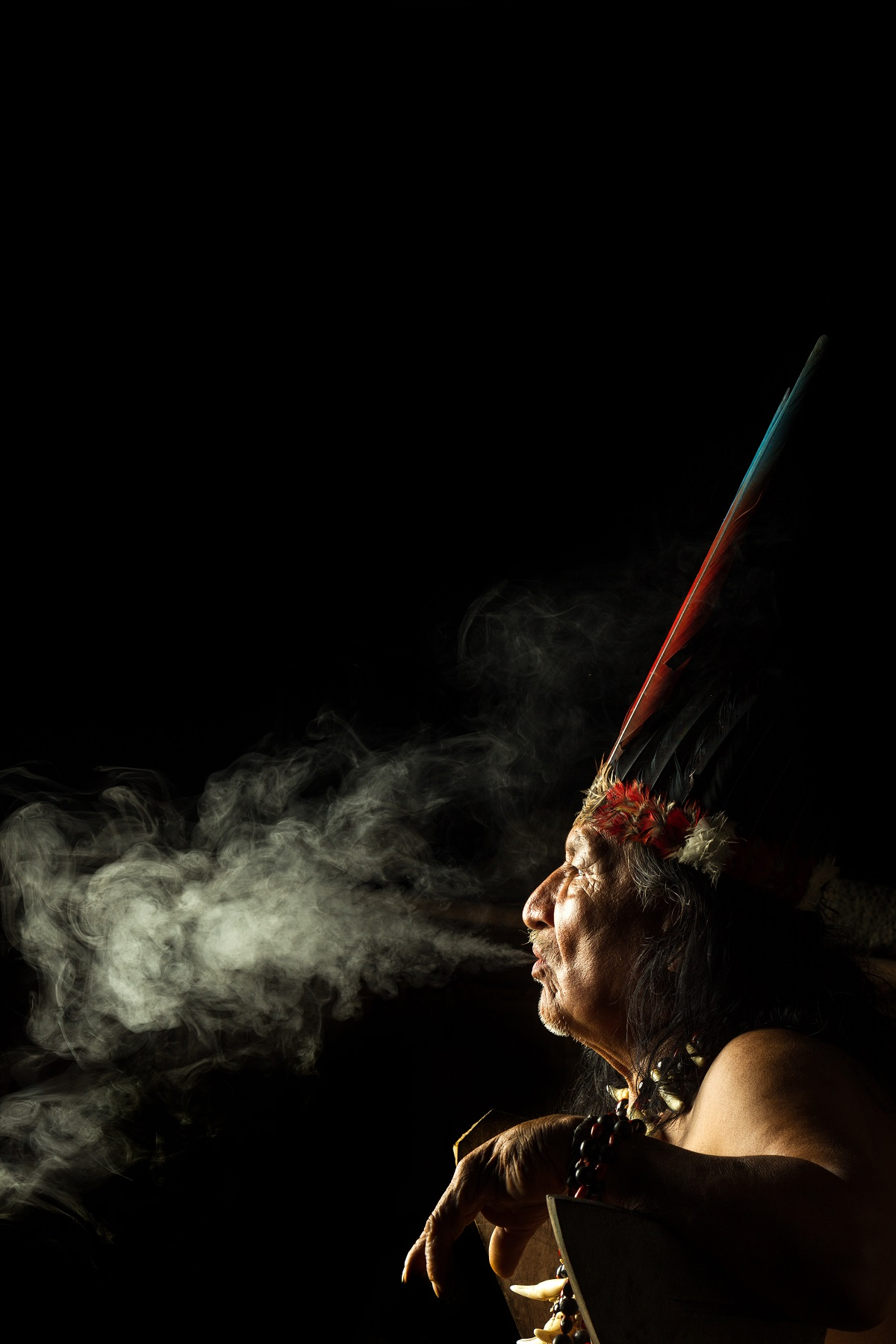 Shaman in Ecuadorian Amazonia during a real ayahuasca ceremony. Photo: ammit/123RF