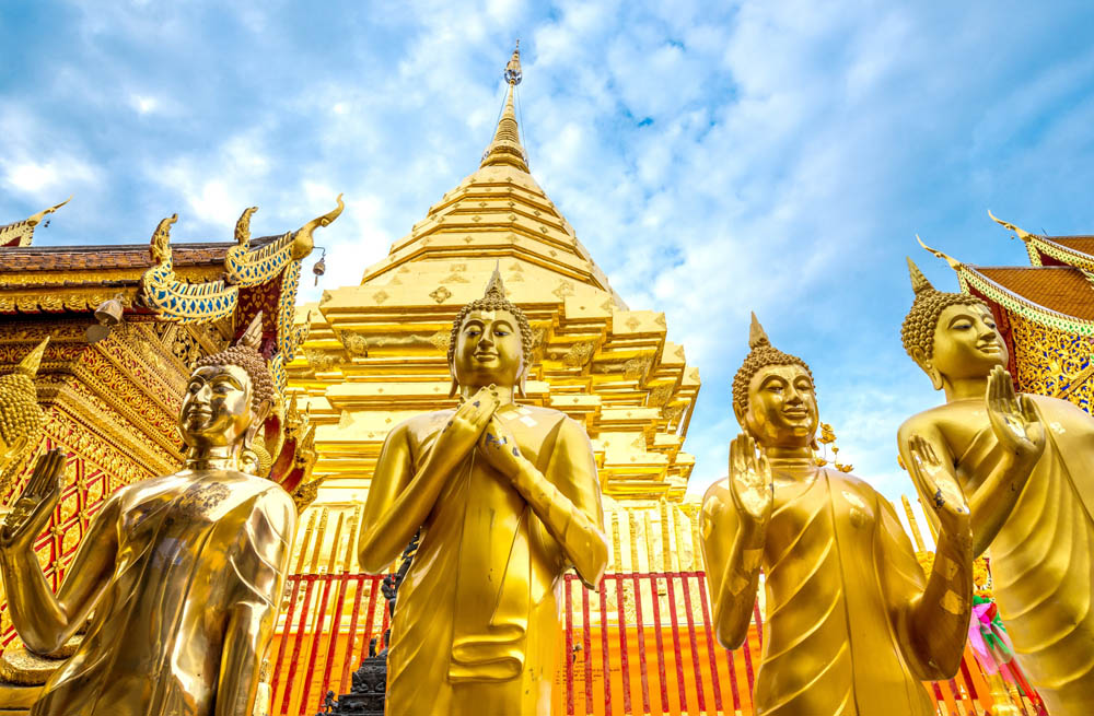 Golden Pagoda Wat Phra That Doi Suthep Chiang Mai. Photo: Shutterstock