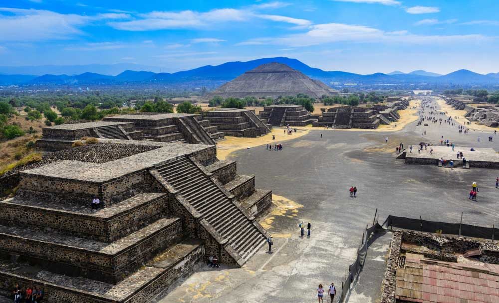 he Pyramids of Teotihuacan in Mexico