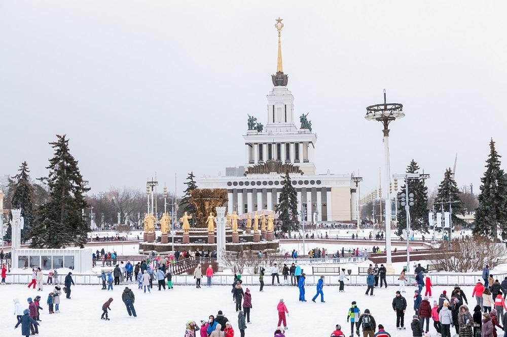 VDNKh Skating Rink (Moscow). Photo: Kekyalyaynen/Shutterstock