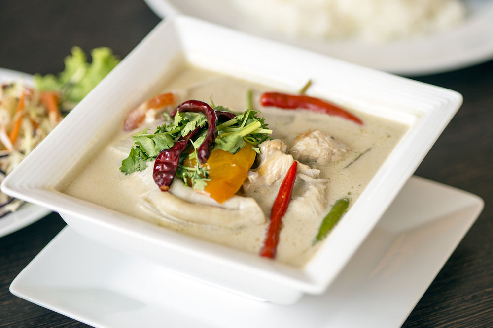 Coconut Thai soup, perfect for a romantic meal.