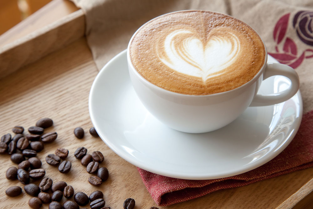 A cup of Cafe' latte. Photo: Shutterstock