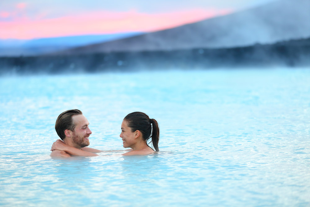 Hot spring geothermal spa on Iceland. Photo: Shutterstock