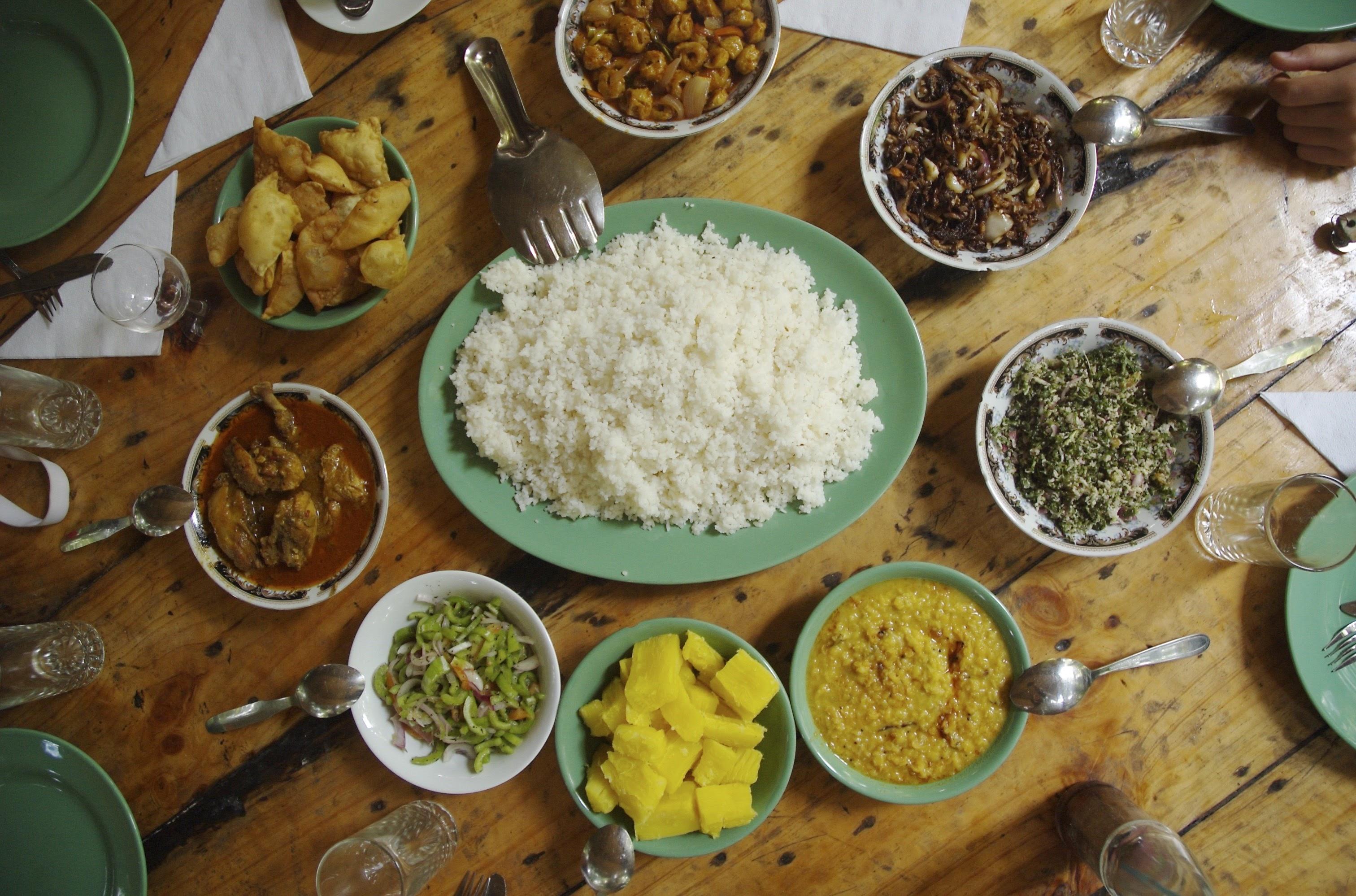 Sri Lankan dinner. Photo: Durga, local expert for Sri Lanka.
