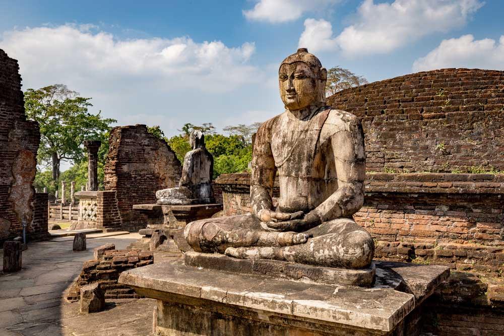 Buddha statue at Polonnaruwa, Sri Lanka.