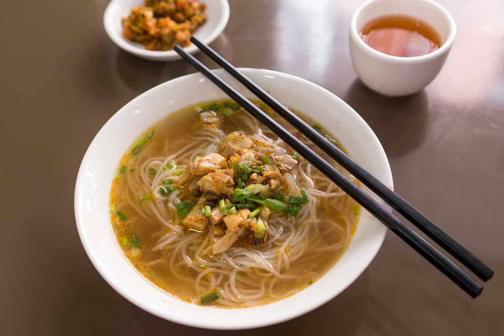Dish of Burmese Shan noodles soup in Myanmar. Photo: Shutterstock