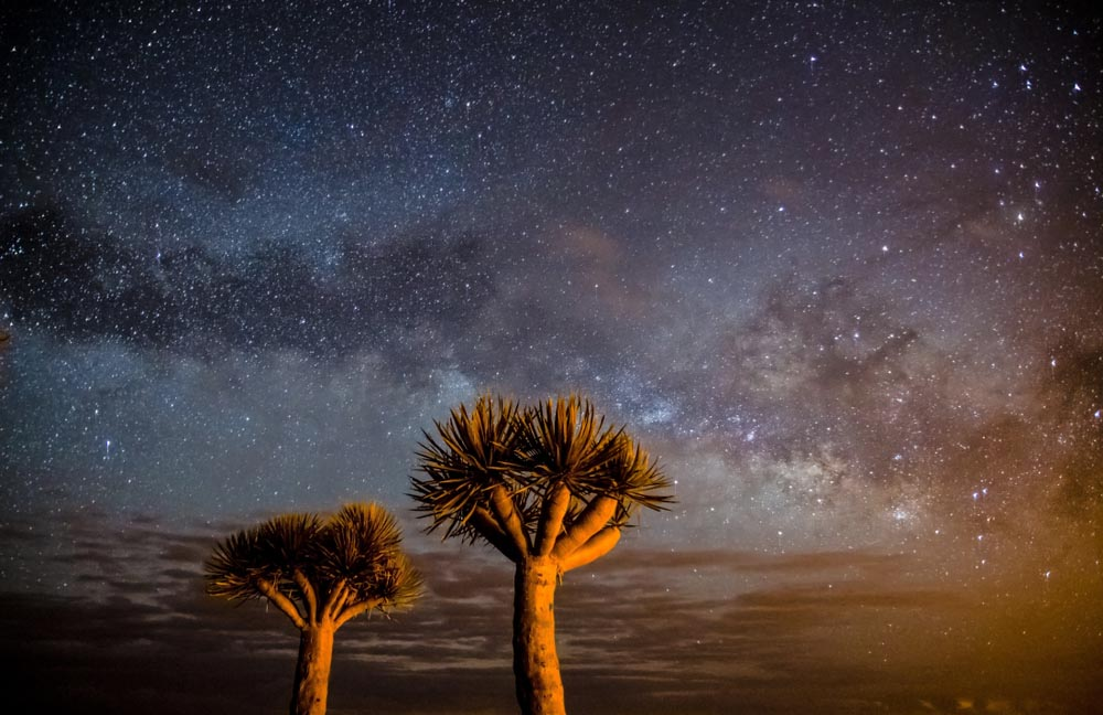 Milky Way over La Palma island