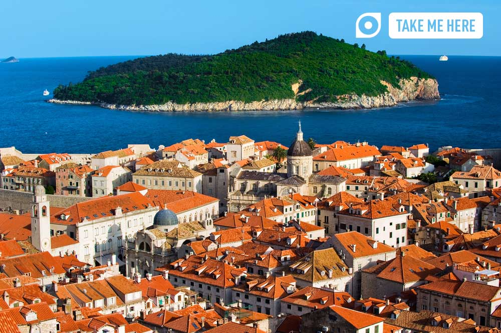 Dubrovnik's walled Old Town and Lokrum Island