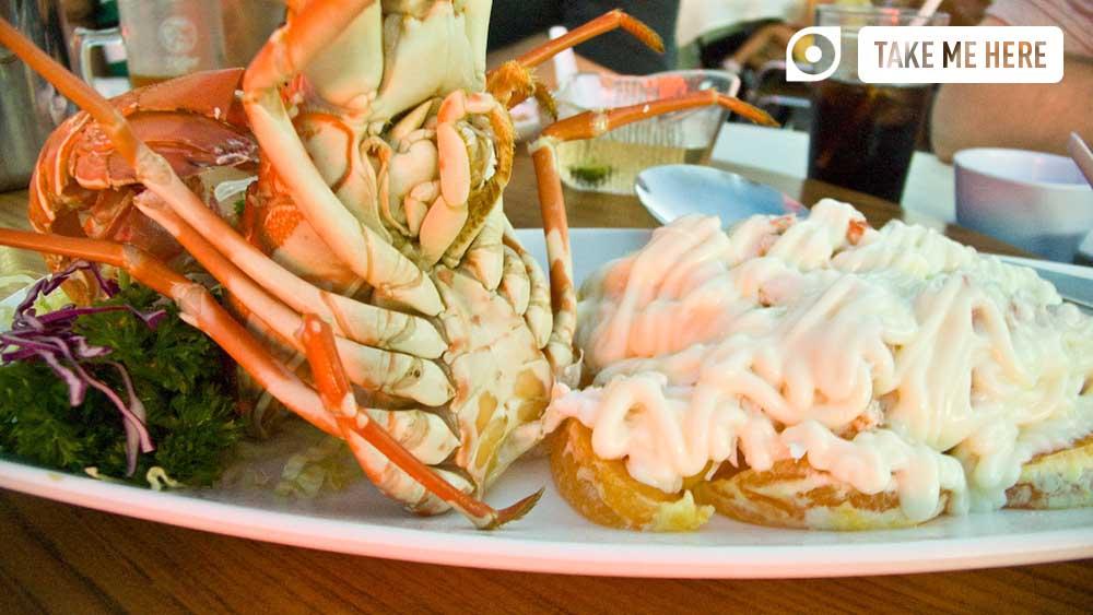 Lobster is served at Jumbo Seafood.