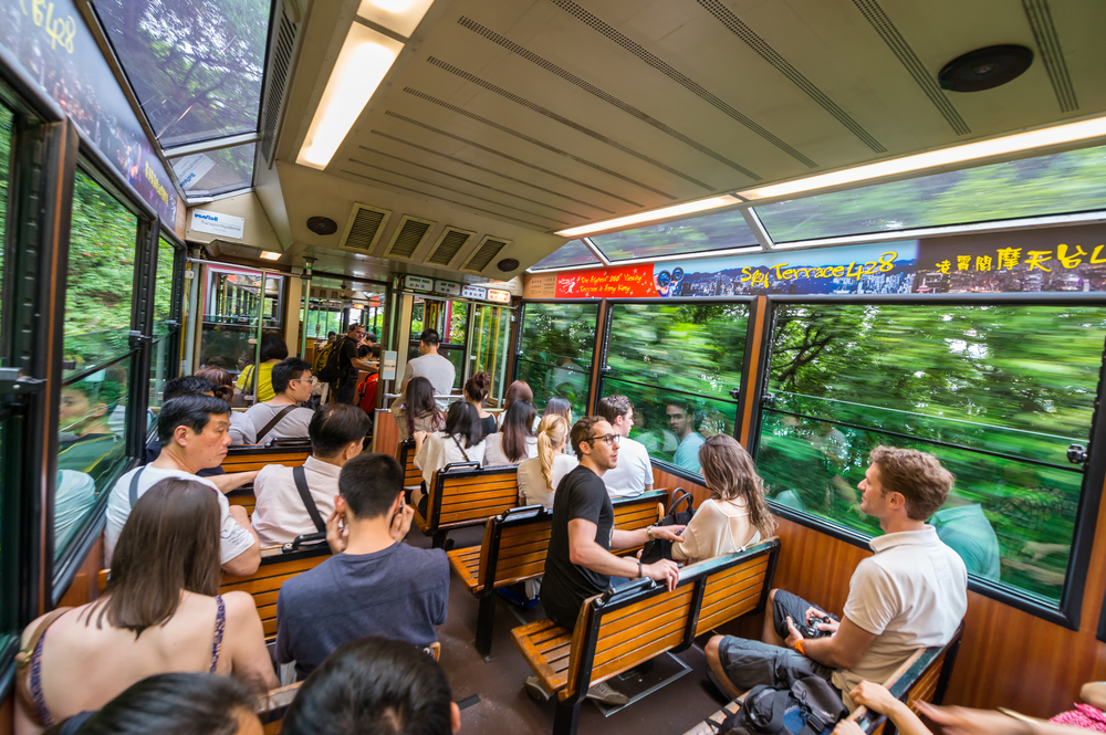 The Peak Train takes passengers to Victoria Peak. Photo: Shutterstock