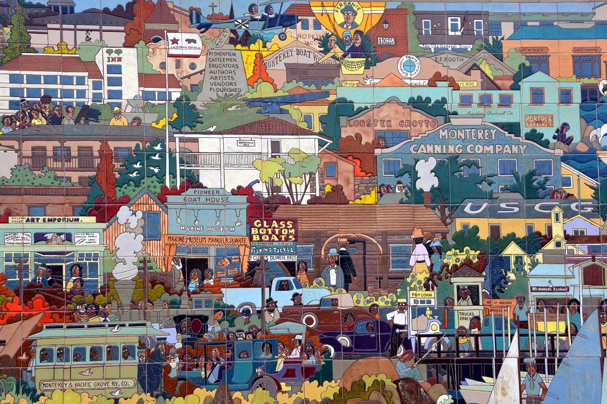 A 36 foot ceramic tile mural in monterey california by for California mural