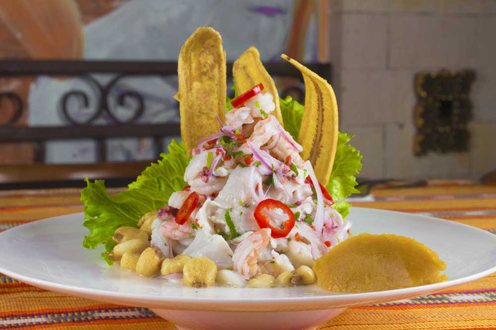 Ceviche: a dish to try while in Cartagena.