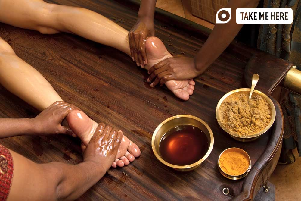 Ayurvedic Oil Foot massage. Photo: Shutterstock