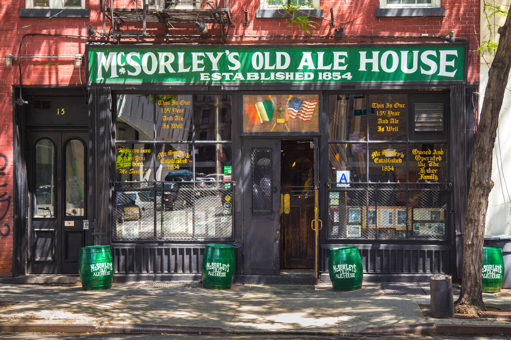 Historic McSorley's Old Ale House in New York City. Photo: Shutterstock