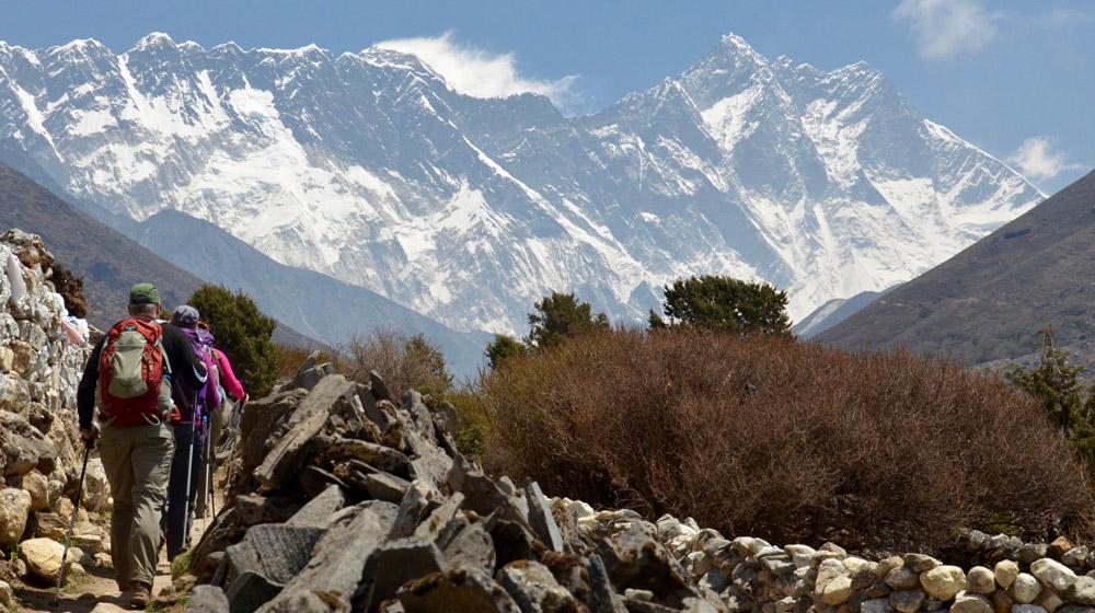 Trekking to Pangboche. Photo: Nepal trip provider