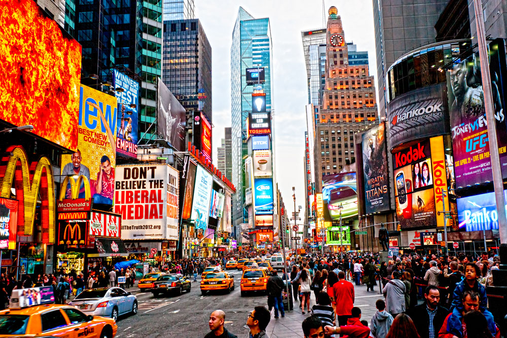 Times Square in NYC. Photo: Shutterstock