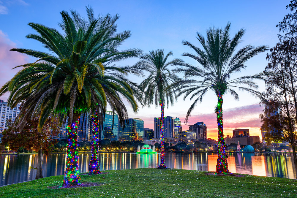 Orlando, Florida, USA downtown skyline at Eola Lake. Photo: Shutterstock