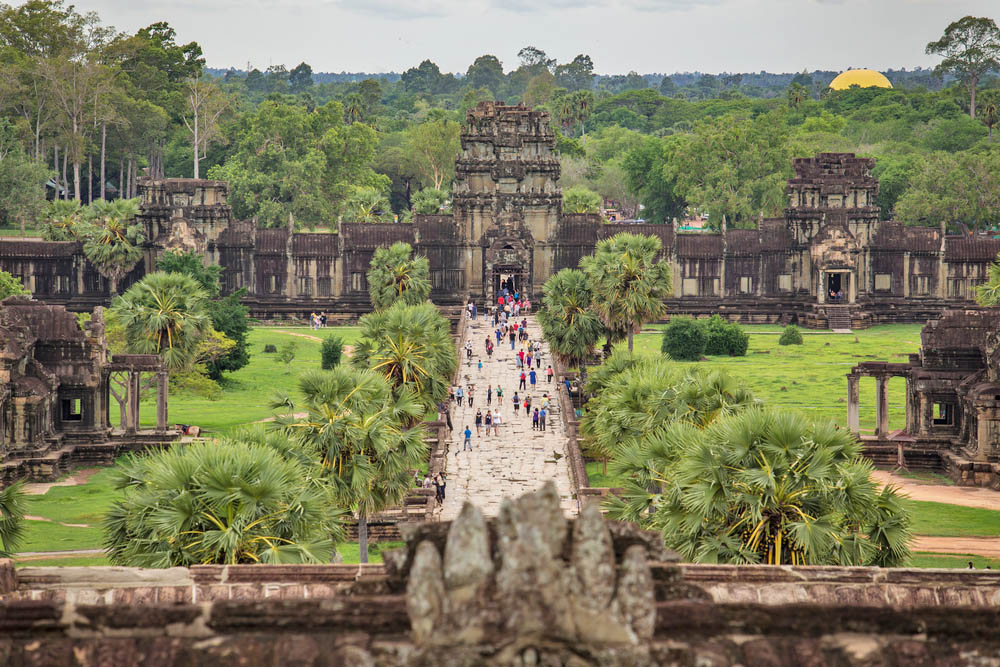 Tourists at Angkor Wat Temple. Photo: Shutterstock