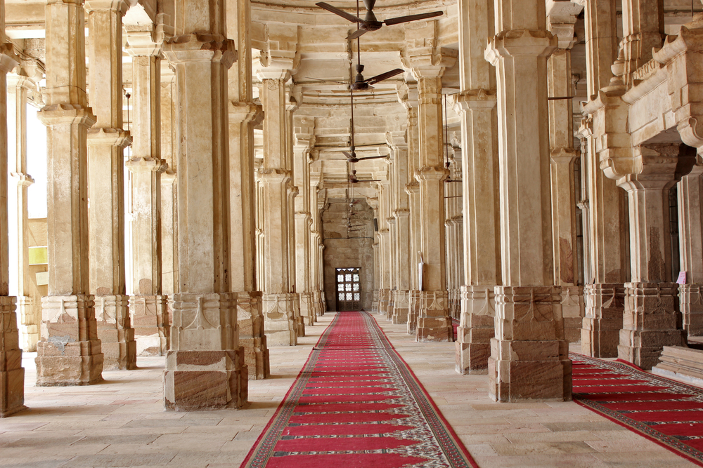 Ancient colonnaded structure of Juma Masjid. Photo: Shutterstock