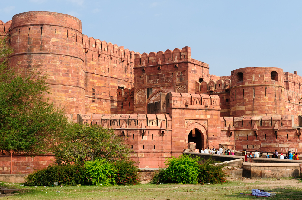 Red Fort in Agra, Amar Singh Gate. Photo: Shutterstock