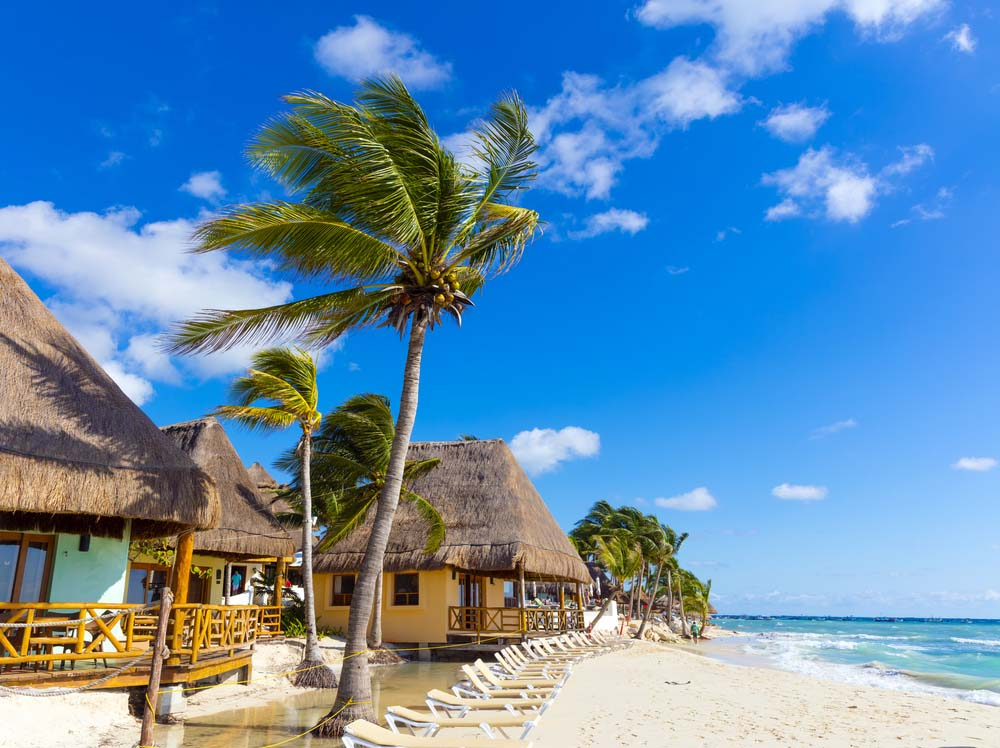 Playa del Carmen on January. Photo: Shutterstock