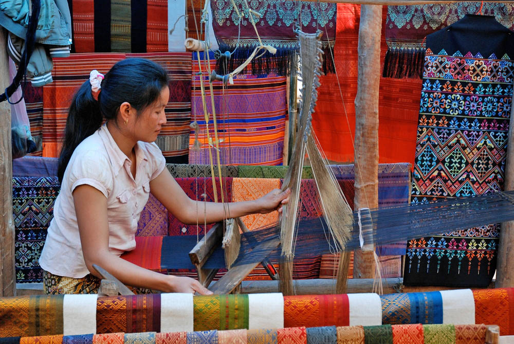 Luang Prabang handicraft market. Photo: Shutterstock