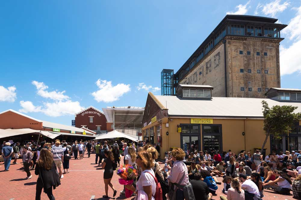 Neighbourgoods Market in the Old Biscuit Mill in the heart of the Woodstock district of Cape Town.