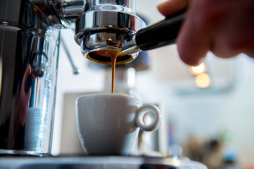 Italian espresso coffee.