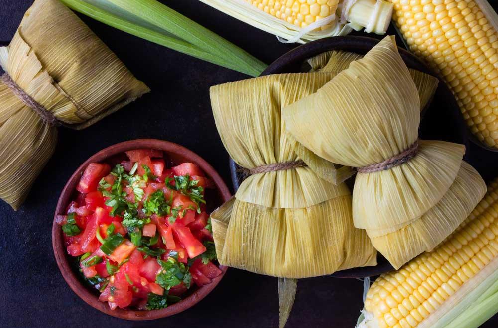 Traditional homemade humitas of corn