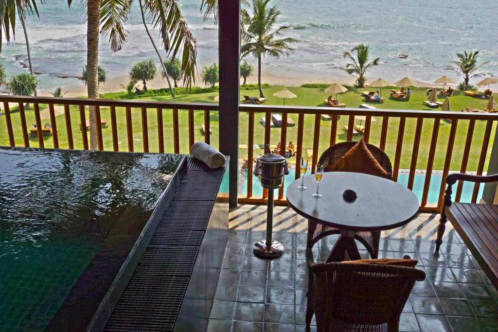 he view from the rooms at the Jetwing Lighthouse.
