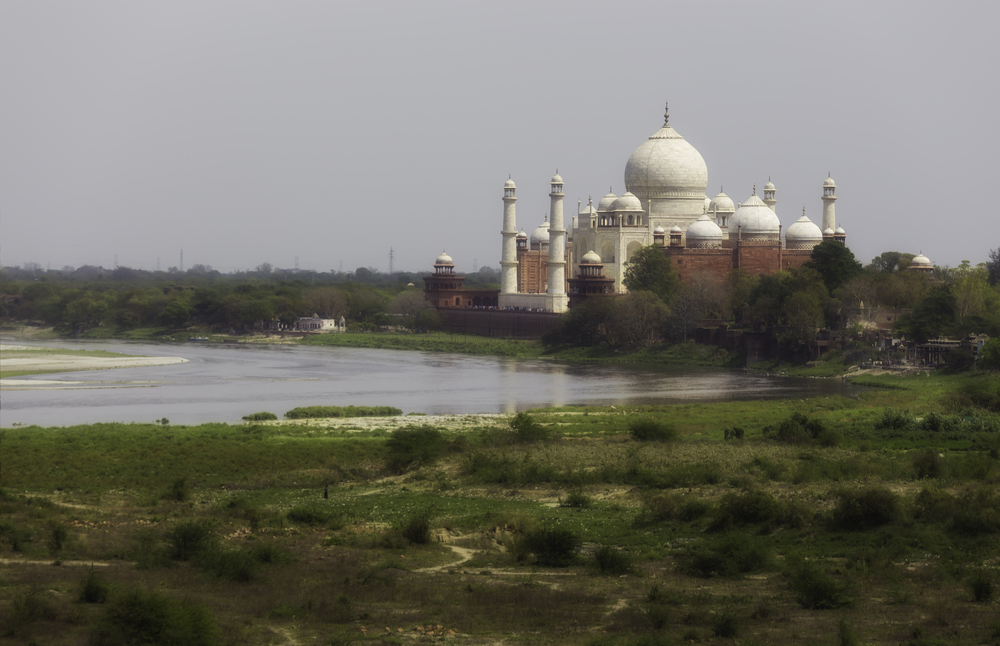 The Taj Mahal from a distance, Agra, India. Photo: Shutterstock