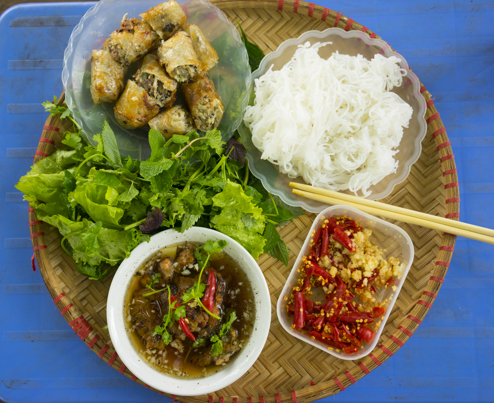 Traditional Vietnamese food.