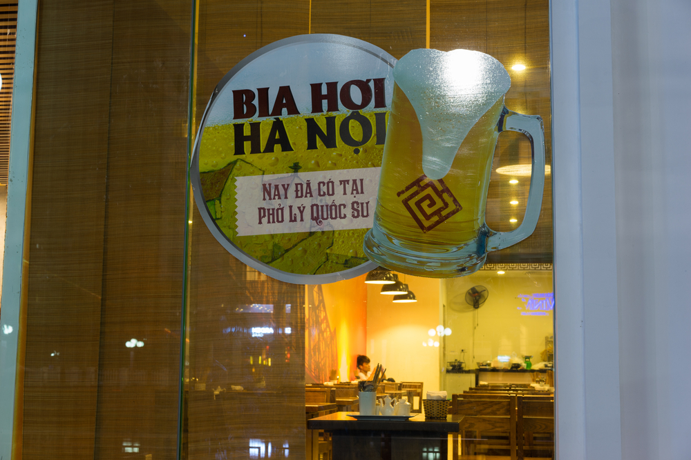 Hanoi's cheep and cheerful beer, bia hoi.
