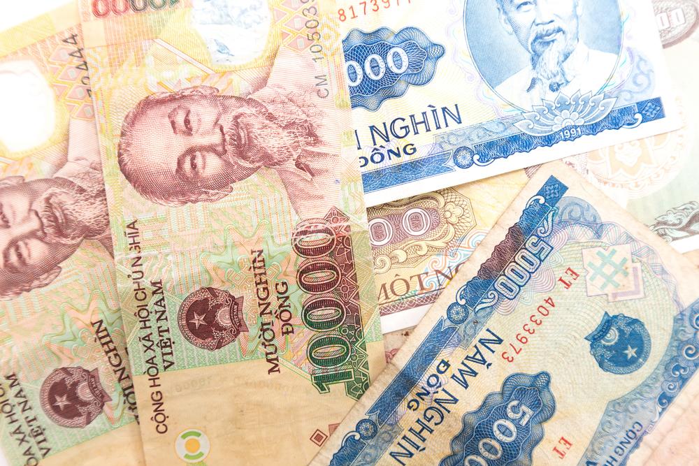 Vietnamese money (Dong).