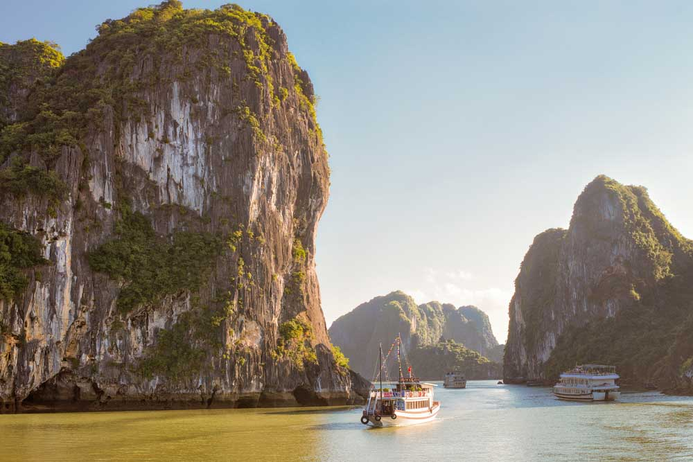 View of lagoon in the Halong Bay at the Gulf of Tonkin of the South China Sea, Vietnam. Photo: Shutterstock