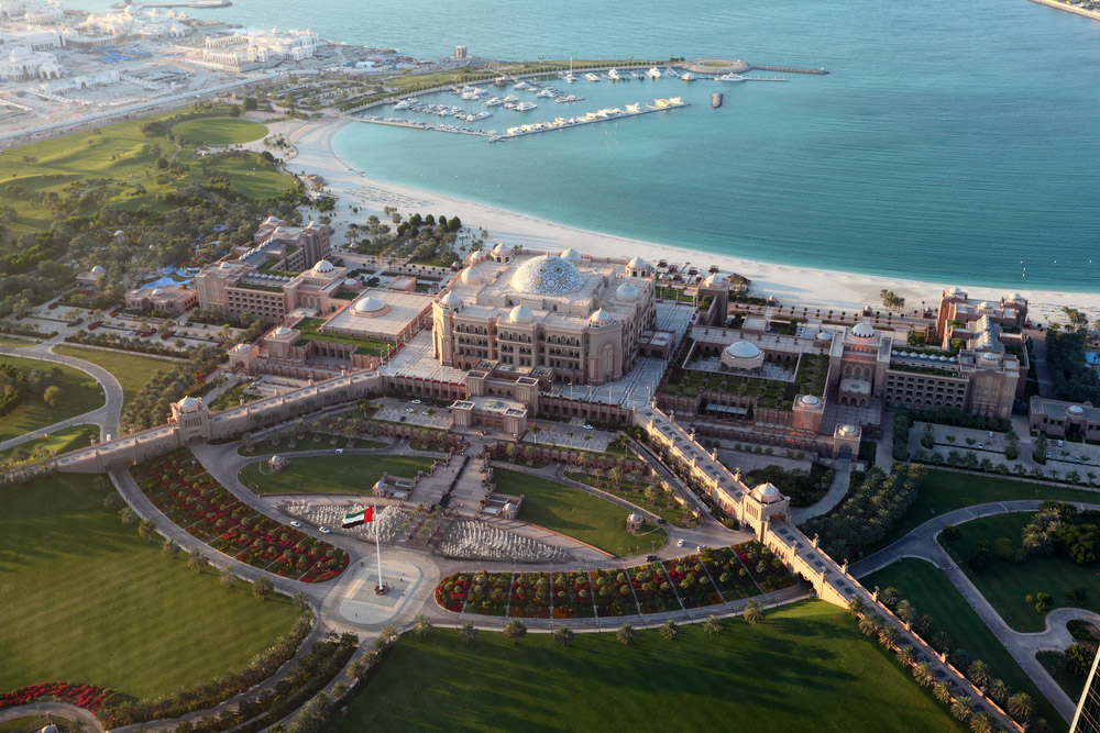 Aerial view of The Emirates Palace. Photo: Shutterstock