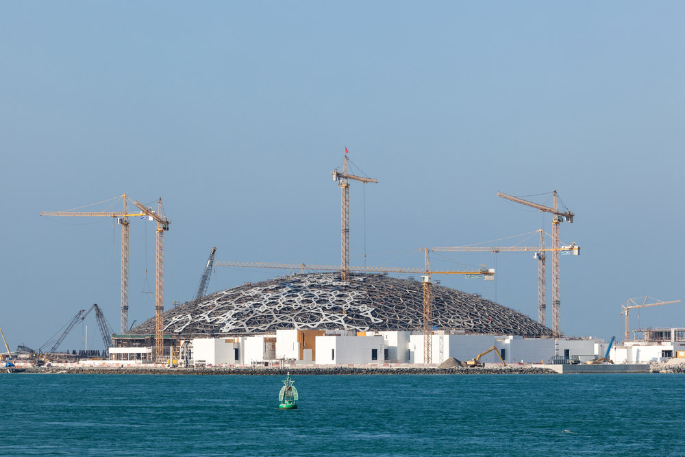The Louvre Abu Dhabi museum construction site. Photo: Shutterstock