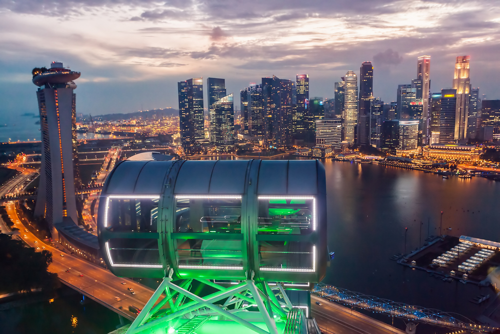 View from the Singapore Flyer. Photo: Pavel Ilyukhin/Shutterstock