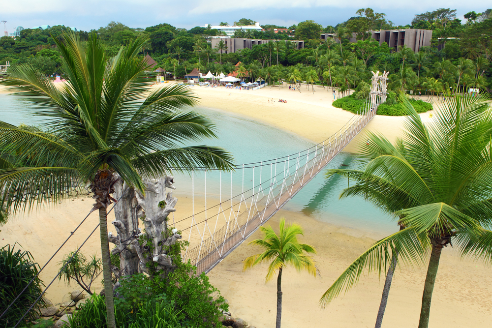 White sand beaches on Sentosa. Photo: leungchopan/Shutterstock