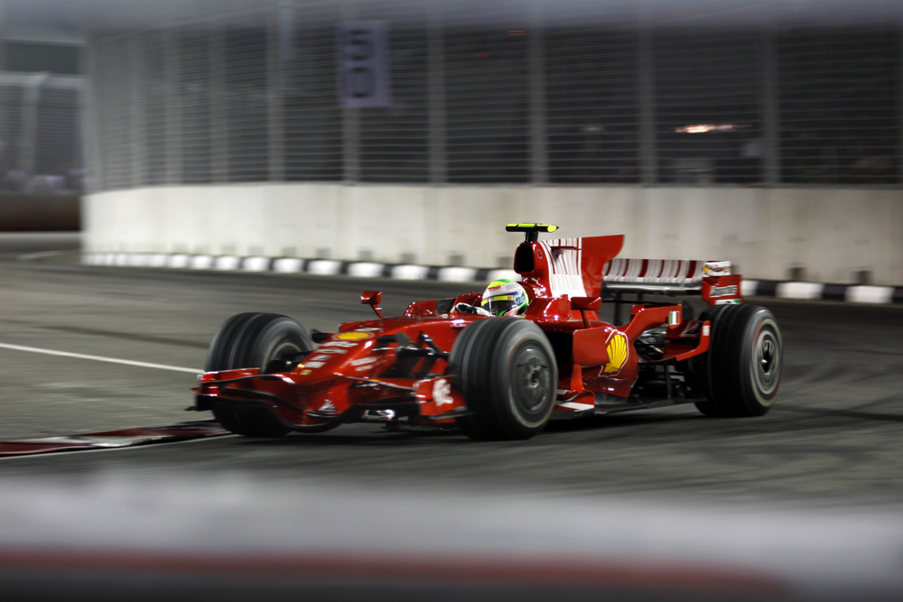 Ferrari's Felipe Massa races at the Singtel Singapore F1 Grand Prix. Photo: CHEN WS/Shutterstock