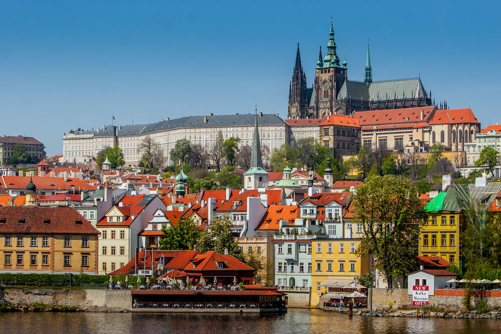 View of the Cathedral of St. Vitus, the Vltava River, Prague. Photo: Shutterstock