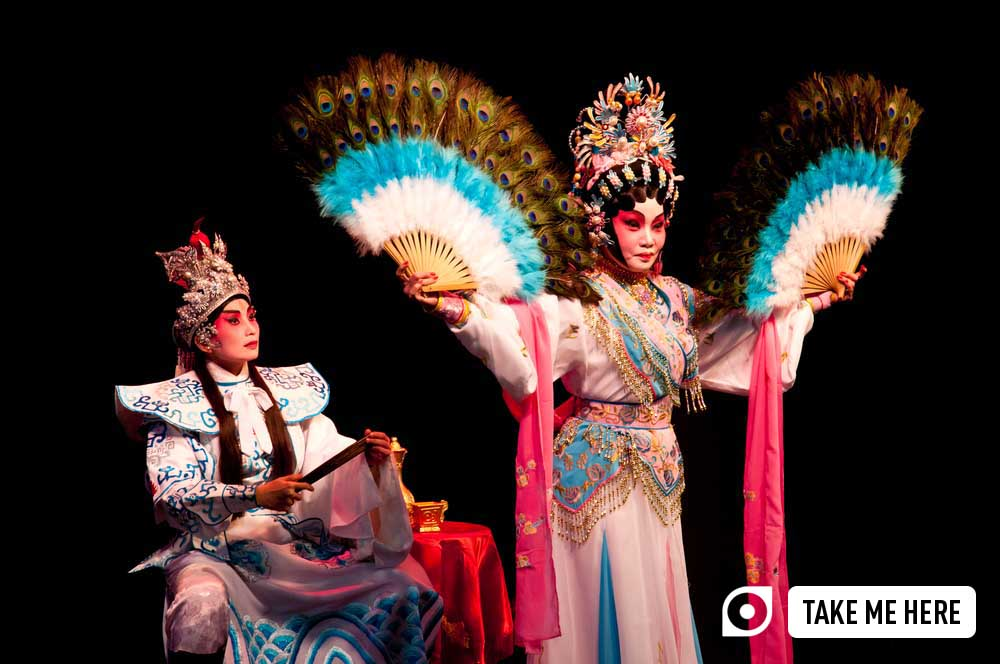 Special traditional Chinese opera performance to celebrate Mooncake Festival in Singapore